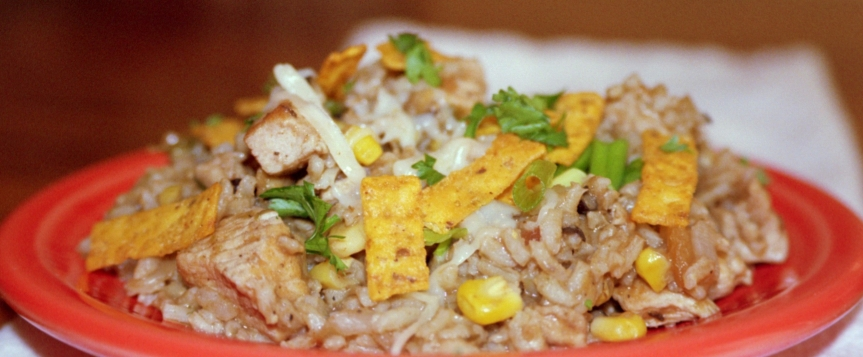 One Pot Southwestern Chicken and Rice Skillet