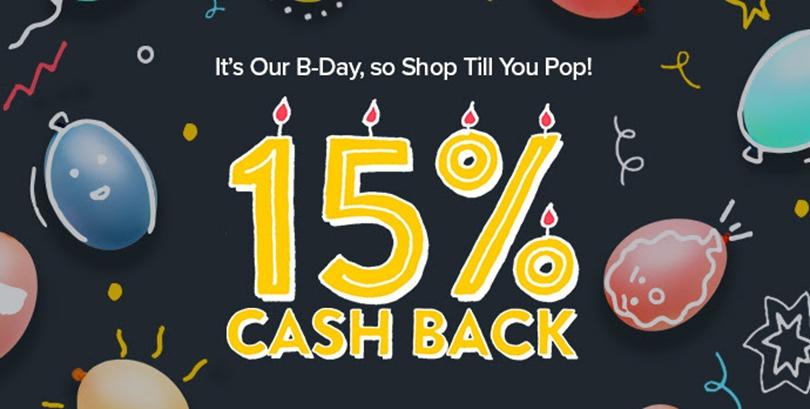 Ebates Birthday 15% CashBack!