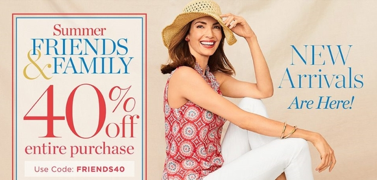 Talbots Friends and Family Sale June 2018